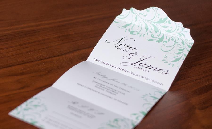 formal all in one wedding invite